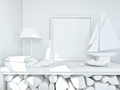 clay render of a still life in white - PhotoDune Item for Sale