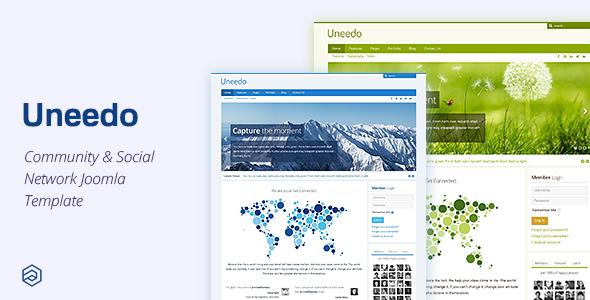 Uneedo – Responsive JomSocial Ready Joomla Template