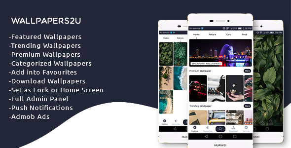 Wallpapers2u - Complete Wallpaper app with Admin Panel - CodeCanyon Item for Sale