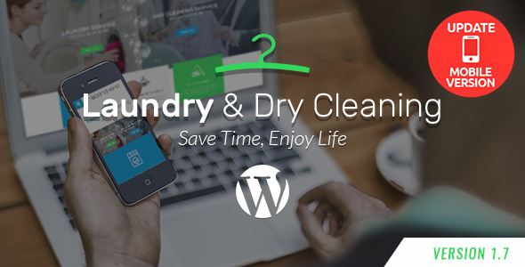 Laundry, Dry Cleaning Services WordPress Theme