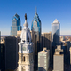 Urban Core City Center Tall Buildings Downtown Philadelphia Pennsylvania - PhotoDune Item for Sale