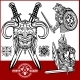 Viking Warrior with Axes - GraphicRiver Item for Sale