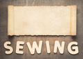 sewing letters and parchment scroll - PhotoDune Item for Sale