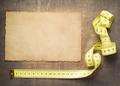 tape measure on slate stone background - PhotoDune Item for Sale