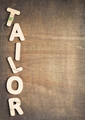 tailor letters on wooden table - PhotoDune Item for Sale