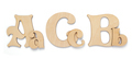 wooden letters isolated at white - PhotoDune Item for Sale