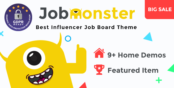 Jobmonster - Job Board WordPress Theme - Directory & Listings Corporate