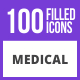 Free Download 101 Medical General Filled Blue & Black Icons Nulled
