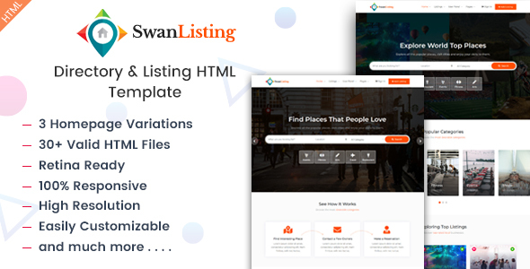 Swanlisting Directory And Listing Html Template