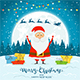 Santa Claus on Winter Background - GraphicRiver Item for Sale