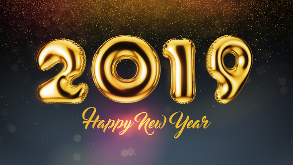 New Year Balloons 2019 After Effects HD Video