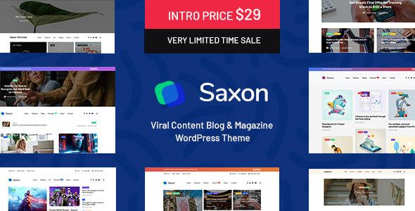 Saxon - Viral Content Blog & Magazine WordPress Theme - News / Editorial Blog / Magazine