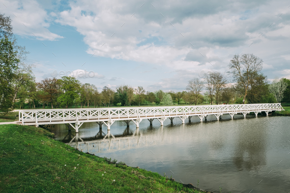 Bridge in the park - Stock Photo - Images