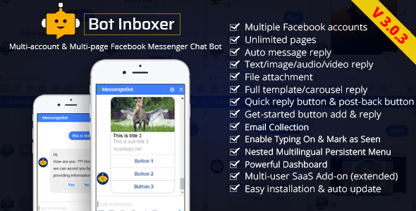 Bot Inboxer - A FB Inboxer Add-on : Multi-account & Multi-page Facebook Messenger Chat Bot - CodeCanyon Item for Sale
