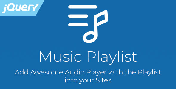 Music Playlist - jQuery Audio Player with Playlist