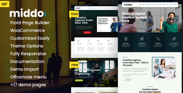 Middo - Modern & Clean WordPress Theme - WordPress