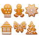 Vector Christmas Gingerbread Icons - GraphicRiver Item for Sale