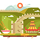Great Wall of China Landscape for Travel Design - GraphicRiver Item for Sale