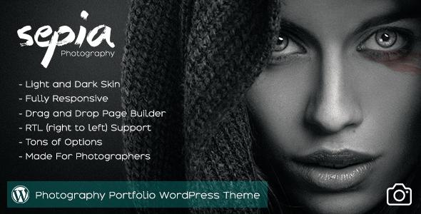 Sepia - Photography Portfolio WordPress Theme - Photography Creative