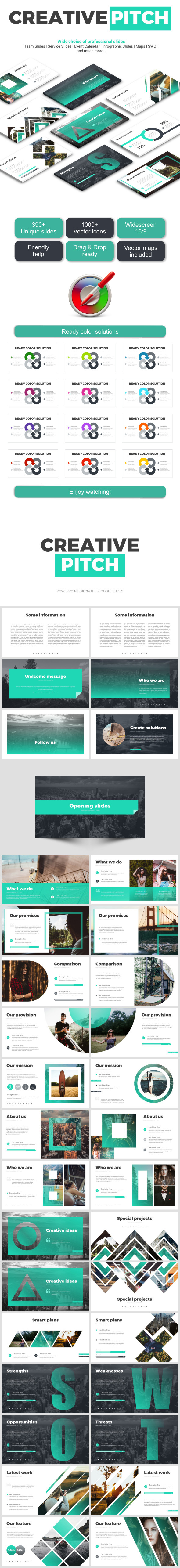 Creative  Pitch Deck - Business PowerPoint Templates