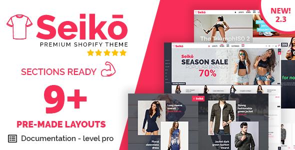 Seiko - Shopify Theme - Fashion Shopify