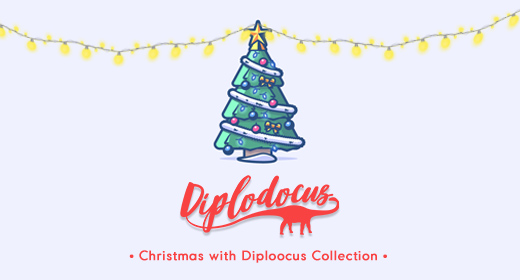 Happy Christmas with Diplodocus