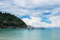 Bridge on beach at sky - PhotoDune Item for Sale