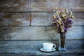 Coffee cup and vase at wall - PhotoDune Item for Sale