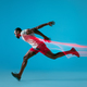 Full length portrait of active young muscular running man, - PhotoDune Item for Sale