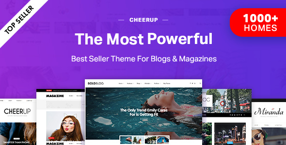 CheerUp Blog / Magazine - WordPress Blog Theme - Personal Blog / Magazine