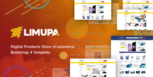 Limupa - Digital Products Store eCommerce Bootstrap 4 Template