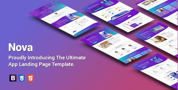 Nova - Premium App Landing Page Template by Epic-Themes