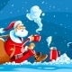 Christmas Holiday Santa Claus Sits on Snow - GraphicRiver Item for Sale