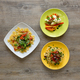 trio of dish of pasta and vegetables - PhotoDune Item for Sale