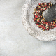 Mixed peppercorn seeds in granite pestle or mortar - PhotoDune Item for Sale