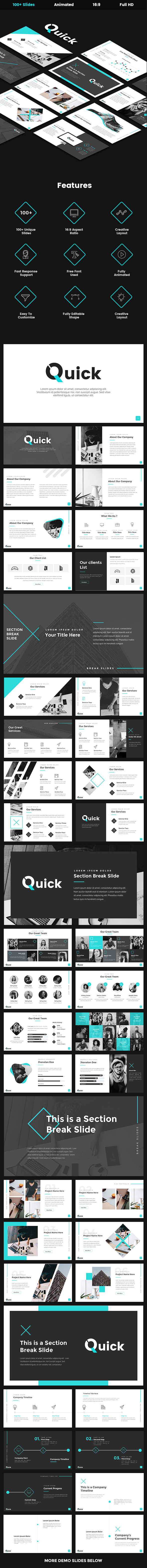 Quick - Creative Google Slides Template - Google Slides Presentation Templates