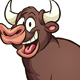 Happy Cartoon Bull - GraphicRiver Item for Sale