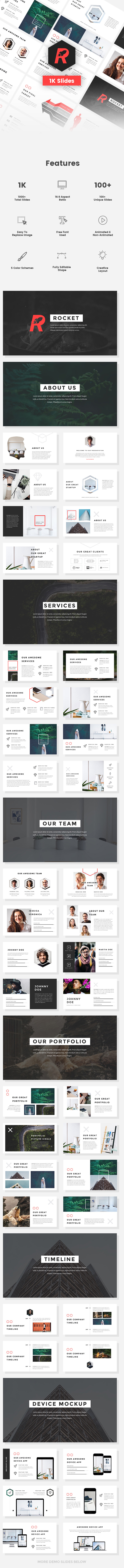 Rocket - StartUp Pitch Deck Keynote Template - Keynote Templates Presentation Templates