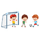 Vector Illustration Of Kid Playing Football - GraphicRiver Item for Sale