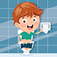 Vector Illustration Of Kid At Toilet - GraphicRiver Item for Sale
