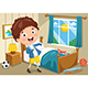 Vector Illustration Of Kid Wearing Clothes - GraphicRiver Item for Sale