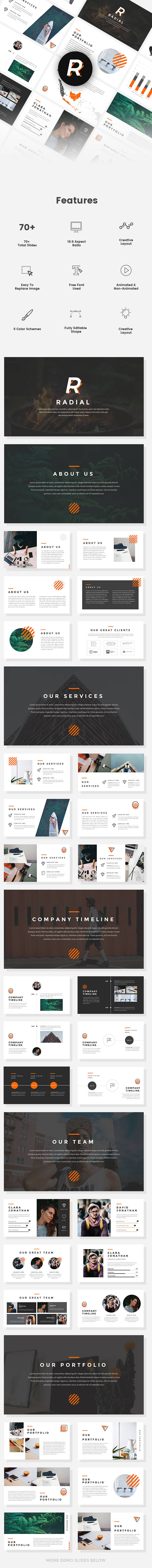 Radial - Creative PowerPoint Template - Creative PowerPoint Templates