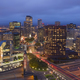 Aerial View Downtown City Skyline Hartford Connecticut After Dark - PhotoDune Item for Sale