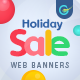 Free Download Holliday Sale Web Banner Set Nulled