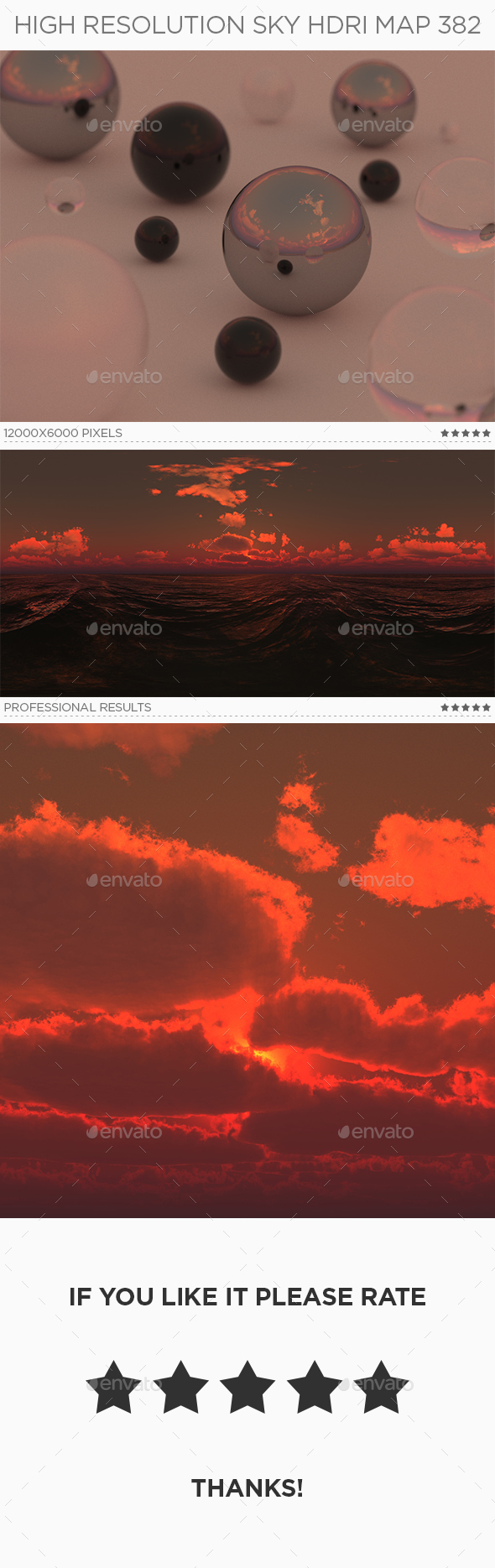 High Resolution Sky HDRi Map 382 - 3DOcean Item for Sale