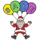 Santa Claus Advertises Discounts on Air Balloons - GraphicRiver Item for Sale