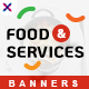 Free Download Food and Services Web Banner Set Nulled