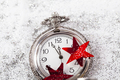 New Year's at midnight - Old clock and holiday lights - PhotoDune Item for Sale