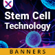 Stem Cell Technology Web Banner Set - GraphicRiver Item for Sale