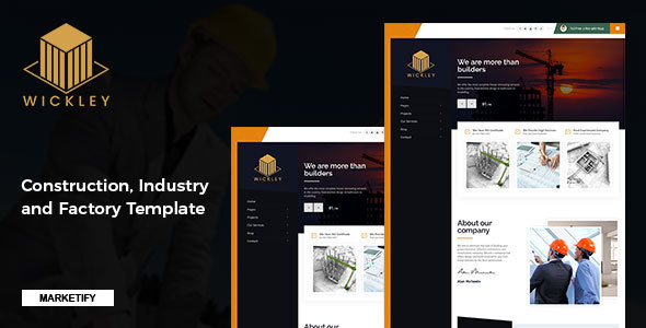 Wickley - Construction, Industry and Factory Template - Business Corporate